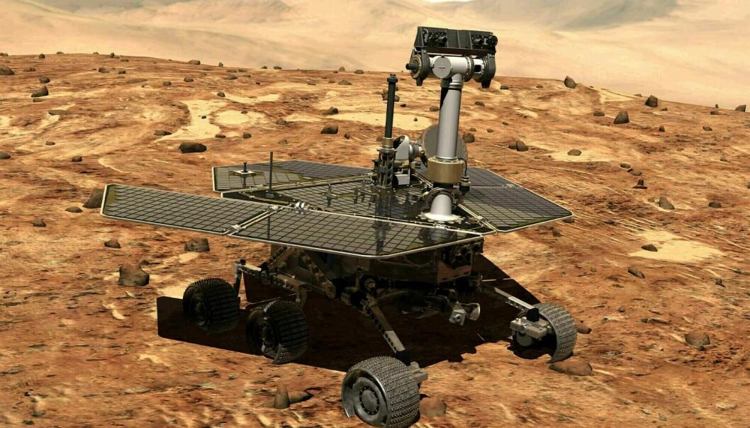 NASAs romfarkost Opportunity har siden 2004 kjørt rundt på Mars og trofast sendt bilder tilbake til NASA-hovedkvarteret. Men nå er farkosten erklært død. (Foto: NASA / AP / NTB scanpix)