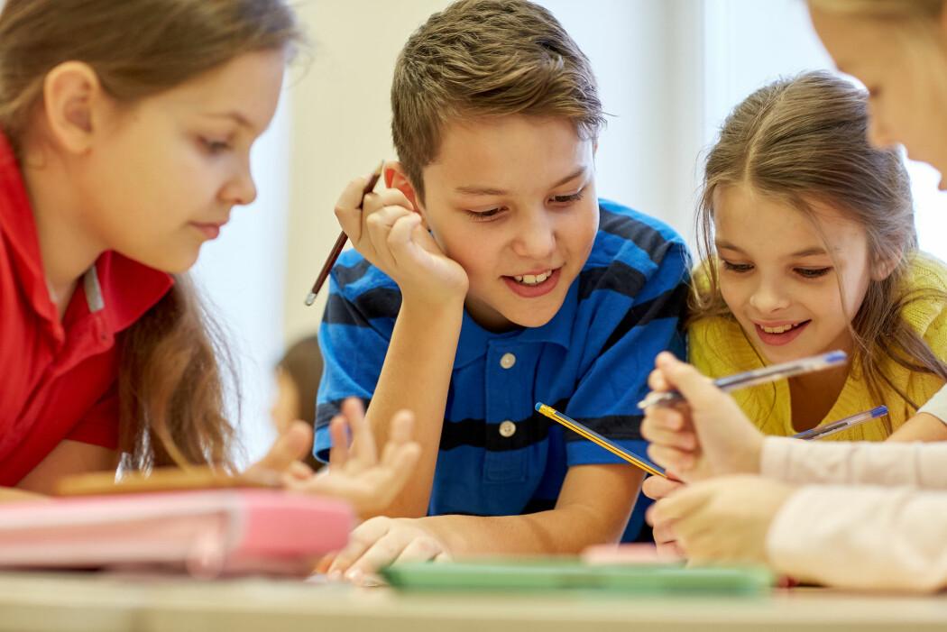 Klassene bør verken være for store eller for små, mener den danske Lærerforeningen. Hvis de blir for små, kan det skade den sosiale og faglige dynamikken. (Foto: Syda Productions / Shutterstock / NTB scanpix)
