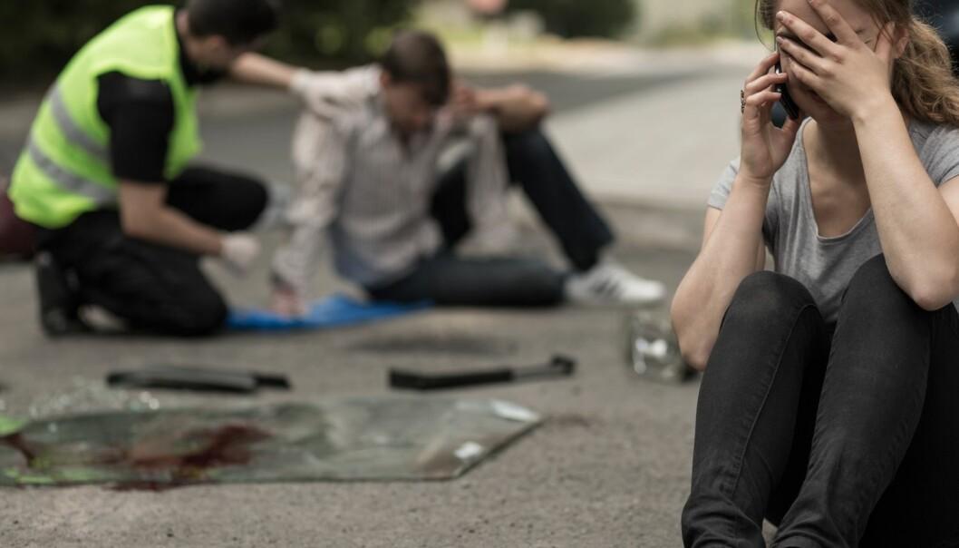 Posttraumatiske stresslidelser er psykiske ettervirkninger som kan melde seg blant annet hos folk som har vært utsatt for eller vært vitne til ulykker. Nå er omfanget av slike helseproblemer i Norges befolkning undersøkt for første gang.  (Illustrasjonsfoto: Photographee.eu / Shutterstock / NTB scanpix)