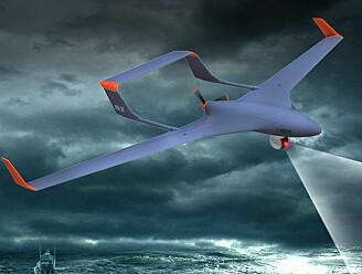 Små droner hjelper store droner til å lande