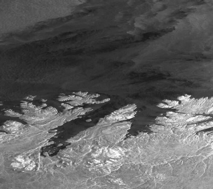 Radarsatellittbilde fra Sentinel-1A over Finnmark 24 februar. (Bilde: Copernicus Sentinel-data 2017)