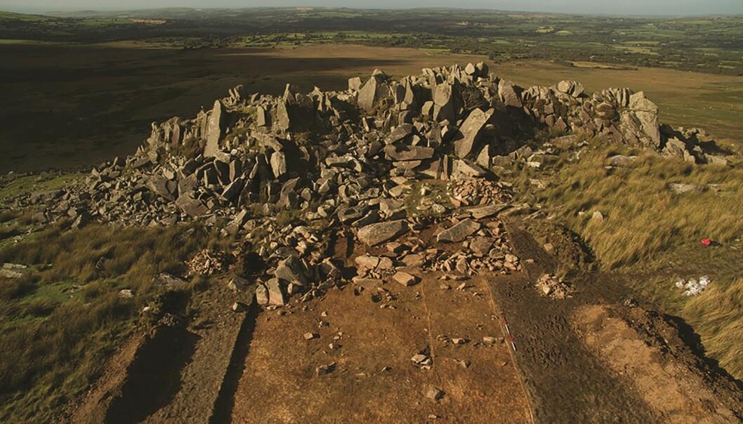 Det åpne steinbruddet Carn Goedog hvor noen av steinene i Stonehenge kommer fra. (Bilde: Adam Stanford/Antiquity 2019)