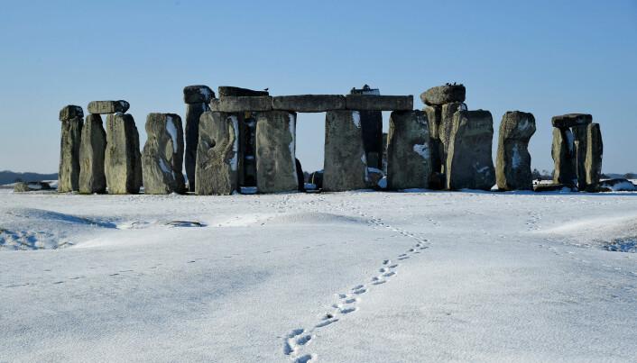 Stonehenge vinteren 2019. (Bilde: REUTERS/Toby Melville/NTB Scanpix)