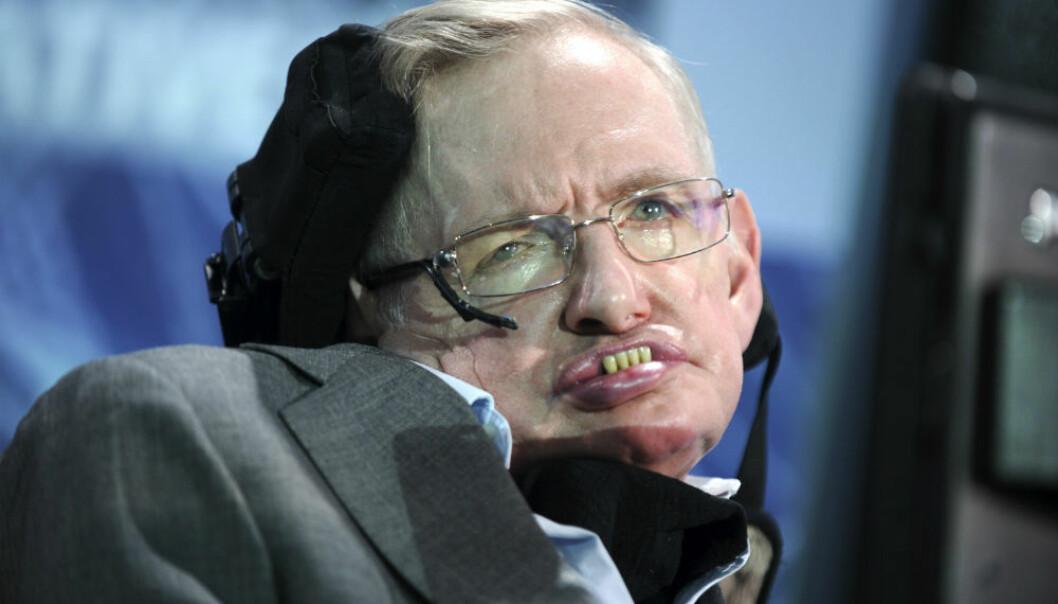 Stephen Hawking mener å ha funnet en ny måte som gjør det mulig for sorte hull å forsvinne uten at informasjonen går tapt. (Foto: Dennis Van Tine/Zuma Press/NTB Scanpix.)