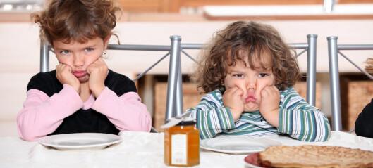 Å nei – ikke frokost nå igjen...
