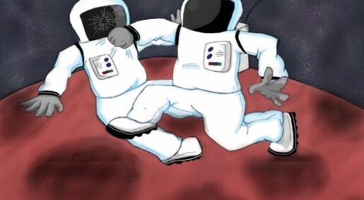 Spør en forsker:Hva skjer hvis en astronaut slår til en annen astronaut ute i verdensrommet?