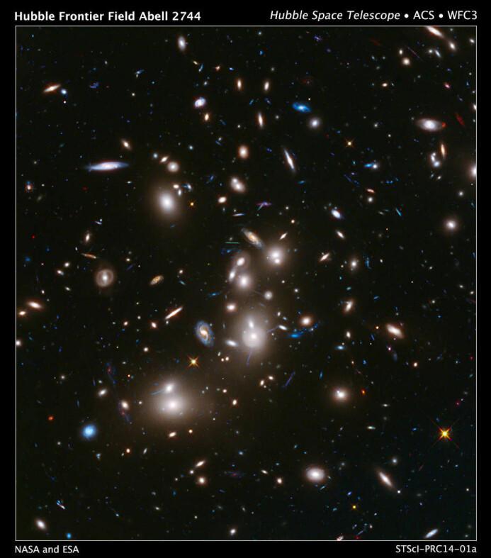 Jorda vår er en del av en galakse. Bildet viser lyset fra de fjerneste galaksene vi noen gang har sett. De med svakest lys ser vi slik de så ut for over 12 milliarder år siden, ikke så lenge etter Big bang. (Image Credit: NASA/ESA)