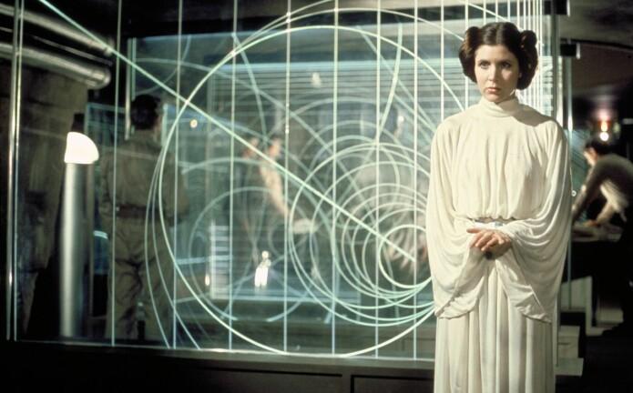Prinsesse Leia i ledigere klær i den første Star Wars-filmen fra 1977. (Foto: Zuma Press/Lucas Films/NTB scanpix)