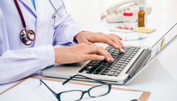 I dag er det svært vanskelig for forskere å få tak i opplysninger fra elektroniske pasientjournaler. Men nå har en forsker utviklet et dataprogram som gir forskerne tilgang til opplysningene, men samtidig sørger for at pasientens personvern blir ivaretatt.  (Illustrasjonsfoto: Colourbox)