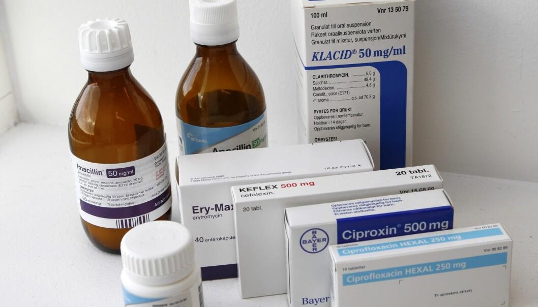 Antibiotika, i tabletter og flytende. (Foto: Gorm Kallestad / NTB SCANPIX.)