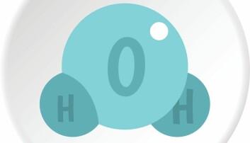 Hydrogenatomer+oksygenatom=vannmolekyl (Colourbox)
