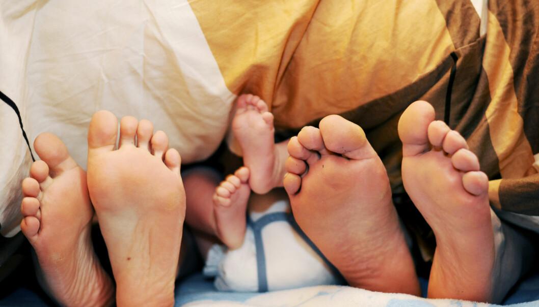 Foreldre får nattesøvnen ødelagt i seks år etter barnefødsel