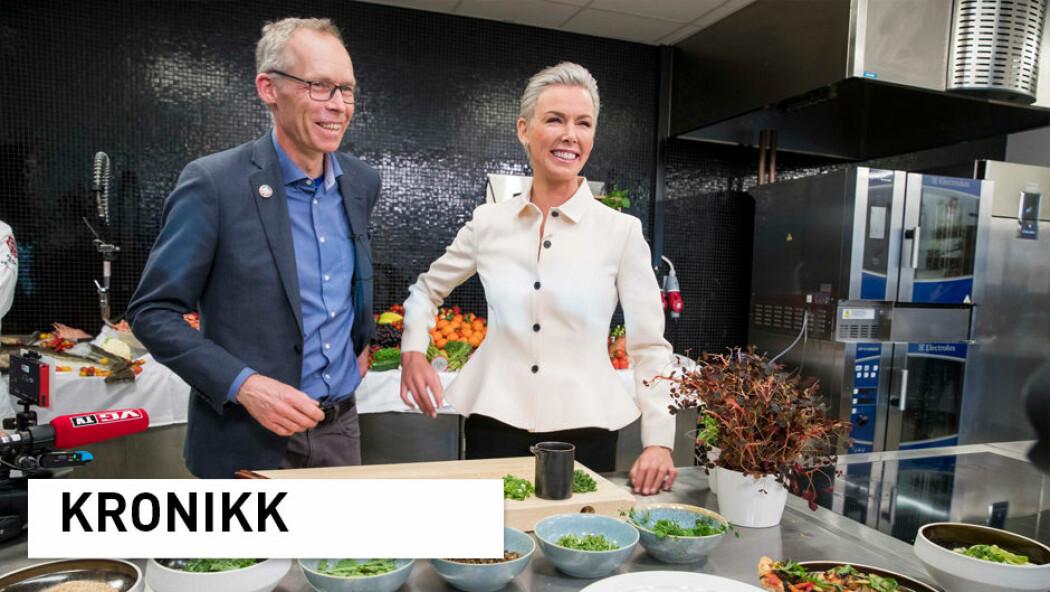 Professor Johan Rockström og Gunhild Stordalen presenterte EAT-Lancet-rapporten i januar i år. (Foto: Terje Pedersen / NTB scanpix)