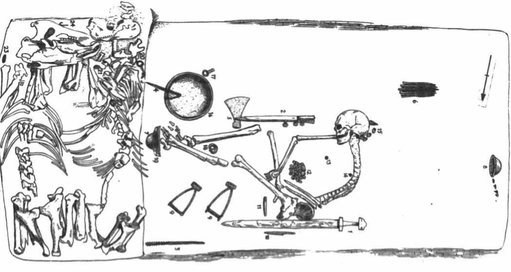 Denne illustrasjonen er fra 1943 (Bilde: Arbmann 1943/Antiquity 2019)