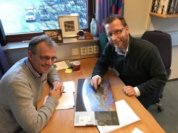 Forskningssamarbeidet ledes av Jan Vermaat fra NMBU (t.v.) og Per Stålnacke fra NIBIO. (Foto: Kathrine Torday Gulden)