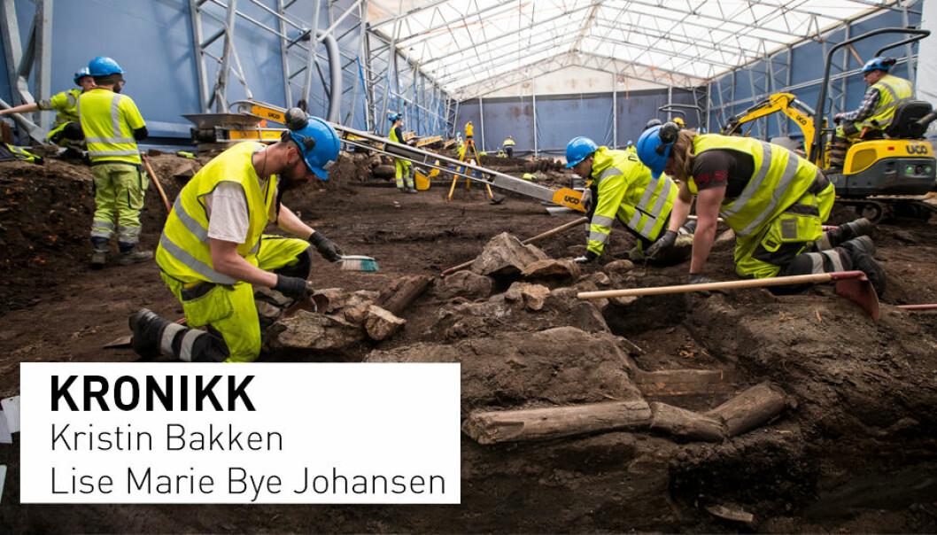 Utgravningene av i Gamlebyen i Oslo som har pågått over flere år, har avdekket mange historisk viktige funn som gir ny kunnskap om viktige deler av middelalderbyen i Oslo. (Foto: Heiko Junge / NTB Scanpix)