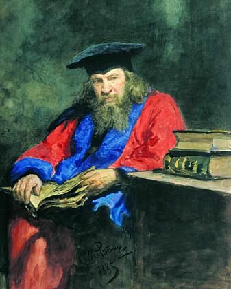 Dmitrij Mendelejev Malt av Ilja Repin i 1885. (Wikimedia Commons)