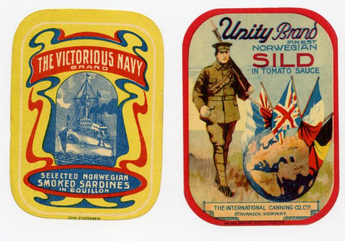 Eksempler på alliert markedsføring Foto: MUST/ Norsk hermetikkmuseum