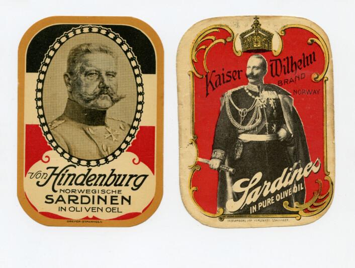 Eksempel på markedsføring av sardiner i Tyskland Foto: MUST/ Norsk hermetikkmuseum