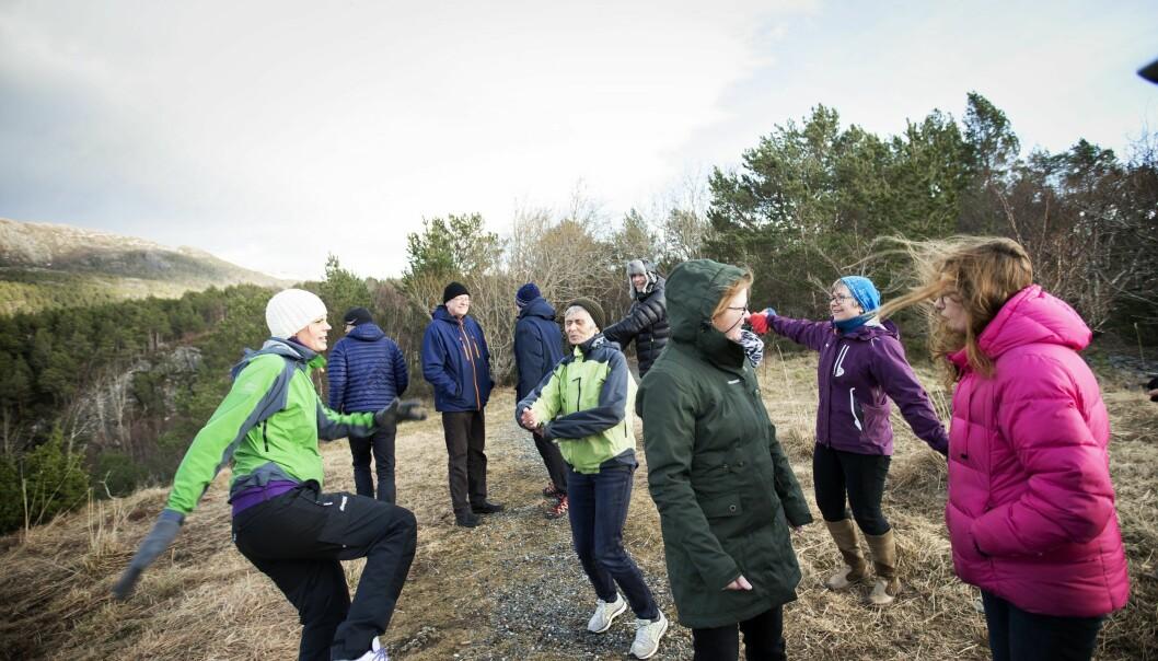 Turgåing er ofte en av aktivitetene i dagtilbudet. (Foto: Martin Lundsvoll)