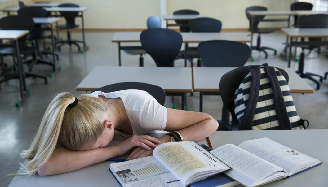 Forskerne har undersøkt konsekvensene av å bli trukket ut til skriftlig eksamen i stedet for muntlig i andreklasse på videregående skole. (Illustrasjonsfoto: Berit Roald / NTB scanpix)