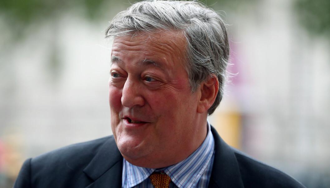 Stephen Fry er blant annet kjent fra vitenskapsprogrammet QI. (Foto: Hannah McKay/Reuters)