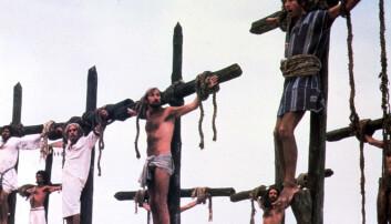 Bilde fra filmen «Life of Brian». Så svart at den i sin tid ble forbudt vist i Norge. (Foto: Mary Evans Picture, NTB scanpix)