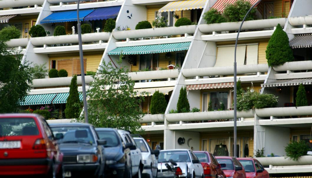 I alle de store byene planlegger myndighetene å fortette og bygge boliger sentralt og ved trafikknutepunkt. Men dette er ikke nødvendigvis på linje med hva mange av innbyggerne ønsker seg, ifølge professor Terje Wessel. (Foto: Heiko Junge / NTB scanpix)