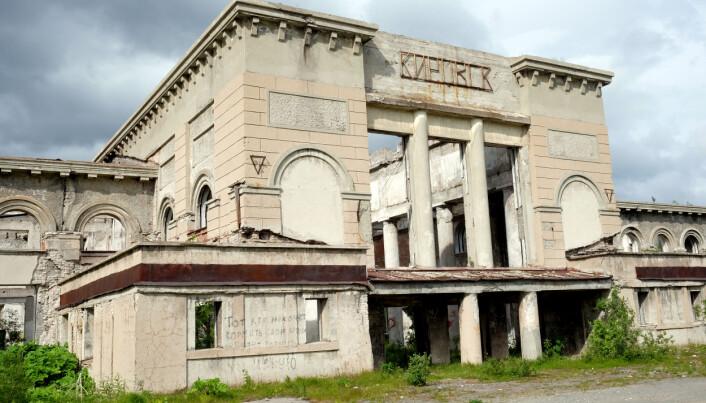 En forlatt togstasjon i Kirovsk, Nordvest-Russland. (Photo: Bjørnar Olsen)