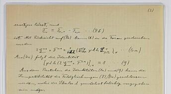 Ukjente brev kaster nytt lys over Einstein
