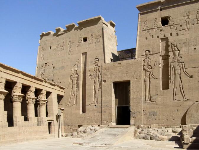 Del av Isis-tempelet på en øy sør for Aswan i Nilen. (Foto: Colourbox)