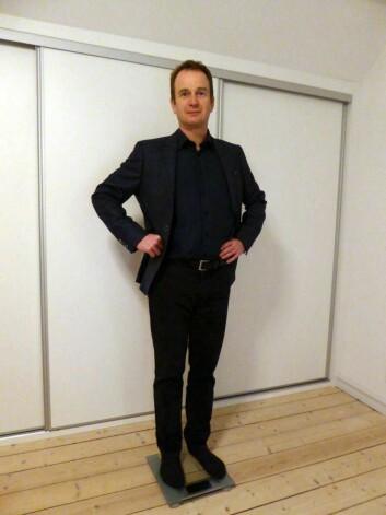 Jakob Stoustrups badevekt kan puste lettet ut etter at professoren fra Aalborg Universitet har vært forsøkskanin i sitt eget slankeeksperiment som bygger på forskningen hans i reguleringsteori. (Foto: Jakob Stoustrup)
