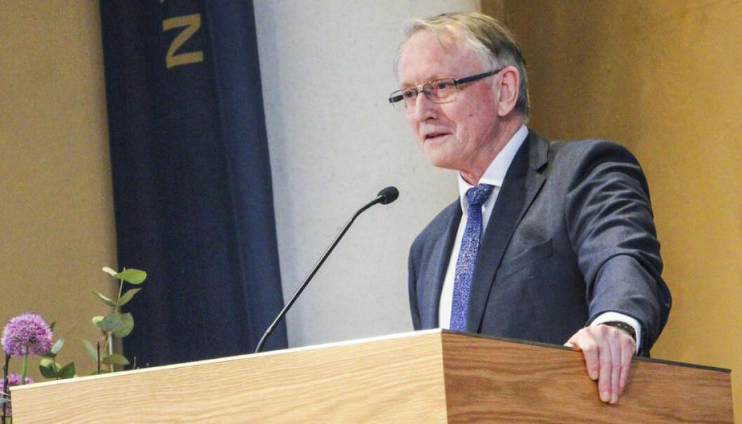 Arvid Hallén, administrerende direktør i Forskningsrådet, sier at hvis budsjettet skal kuttes med 80 millioner kroner, vil dette bety en nedbemanning. (Foto: Ida Bergstrøm)
