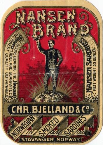 Nansen Brand var det første varemerket fra hermetikkindustrien som ble registrert i Norge. Før dette hadde enkelte hermetikkfabrikker bare registrert firmalogoer. Foto: Tony Kragset