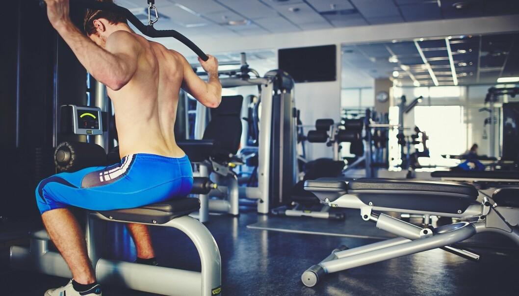 Mange unge menn som trener styrke, mener at de må innta protein i svært store mengder for å bygge muskler mest effektivt. (Foto: Colourbox)