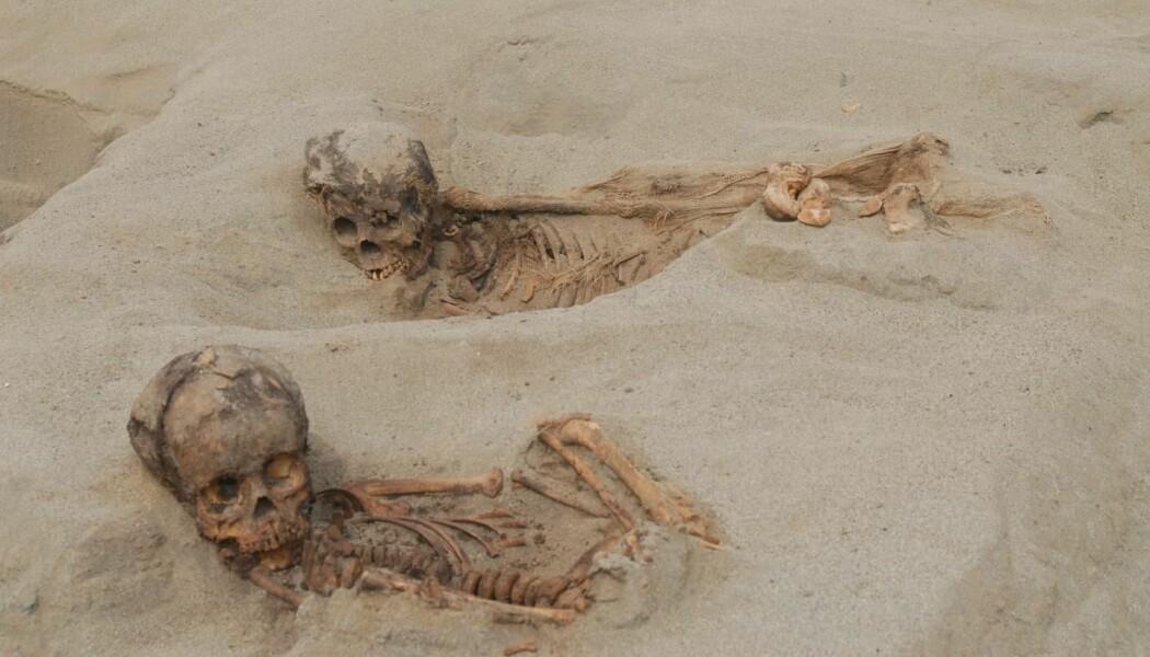 To av barna som ble funnet i utgravningene i Peru. (Bilde: John Verano (2019)