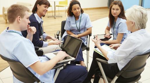 Leger og sykepleiere må lære seg å samarbeide