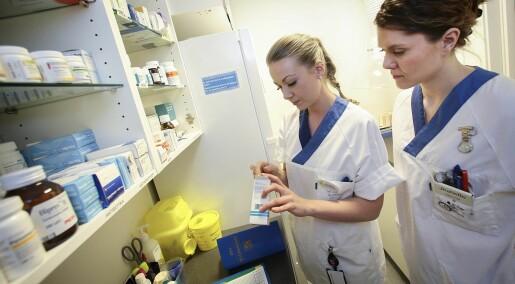 Sykepleiere kan ikke nok om medisiner