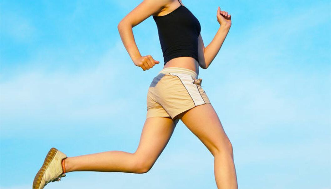 Når kroppen har kommet i gang, og det blir pumpet mer oksygen rundt i kroppen, trår det aerobe stoffskiftet, som bruker oksygen, i kraft. (Foto: Colourbox)