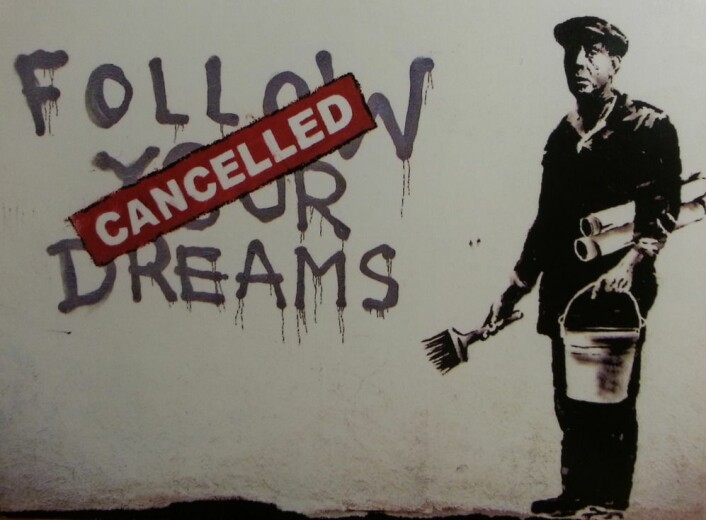 Gatekunst assosiert med Banksy. (Foto: Veerle Garrels)