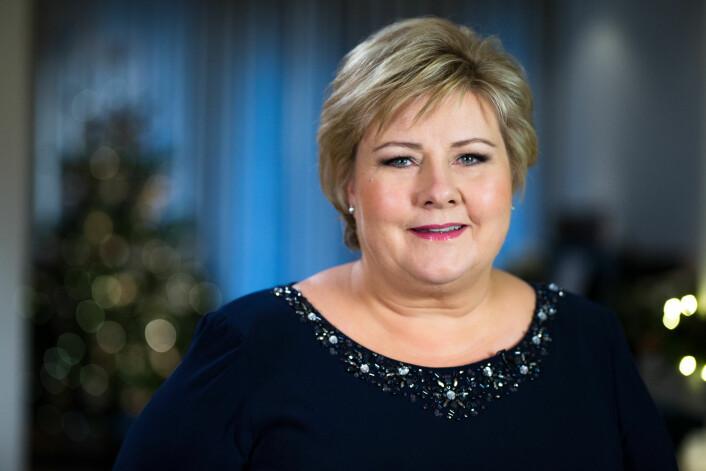 I 2015 gikk regjeringen og Venstre, med Erna Solberg i spissen, inn for at norske arbeidsgivere skulle få anledning til å foreta midlertidige ansettelser uten nærmere begrunnelse, på såkalt generelt grunnlag. Her er Solberg fra nyttårstalen i fjor. (Foto: Audun Braastad / NTB scanpix)