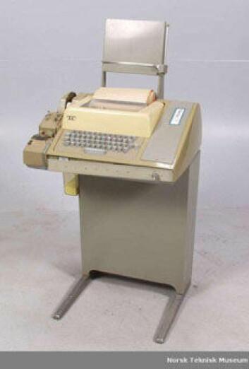 Teleprinteren var en enkel terminal. (Foto: Teknisk museum)