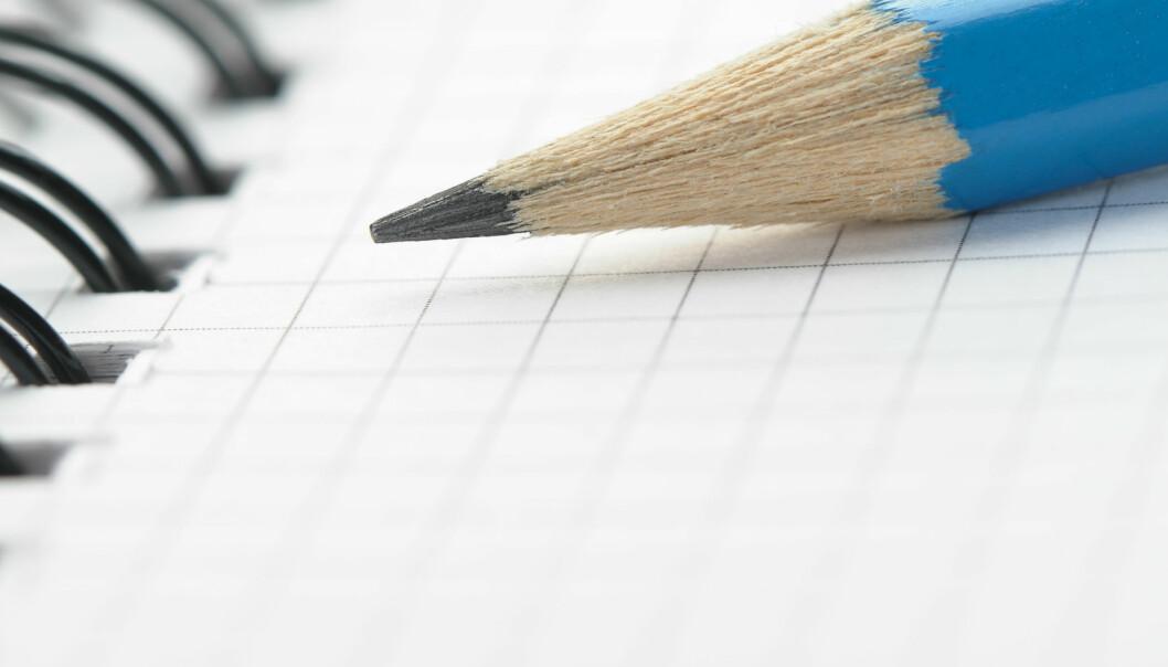 Er blyanten hukommelsens beste venn? (Foto: Colourbox)