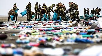 Millioner av plastbiter skylt i land i Nederland
