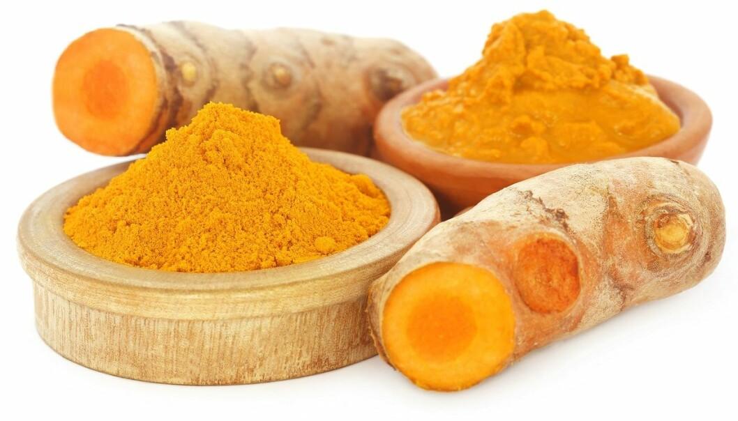 Gurkemeie er godt kjent fra artikler om et sunt kosthold. Men hvor mye kroppen nyttiggjør seg av krydderet kan diskuteres. (Foto: Colourbox)
