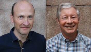 Professor Jon Swenson (t.h) og hans kollega professor Atle Mysterud(t.v) ledet sammen et prosjekt om store pattedyr ved Centre for Advanced Study (CAS) i Oslo.