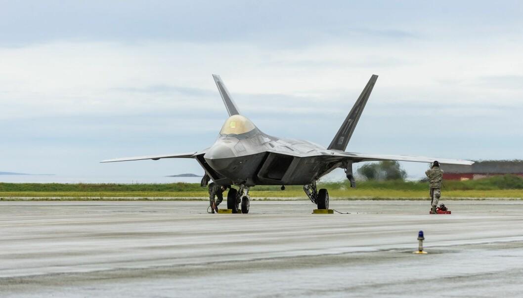 Et amerikansk kampfly fotografert på Ørlandet flystasjon. (Foto: Ned Alley / NTB scanpix)