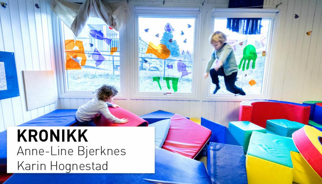 – Det viktigste vi kan gjøre er å støtte og bidra til at vi har en barnehage som inspirerer til nysgjerrighet og vitebegjær, skriver kronikkforfatterne. (Foto: Gorm Kallestad / NTB scanpix)