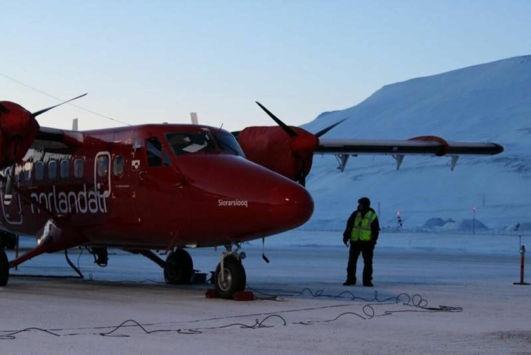 Instrumentet som etter hvert skal brukes fra en satellitt, ble nylig testet fra et småfly fra Svalbard. (Foto: Andreas Stokholm)