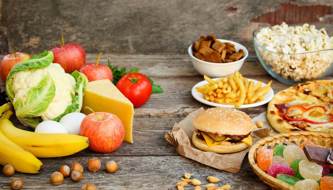 Maten til venstre kan nok være med på å forebygge en rekke sykdommer. Men ikke demens, ifølge en britisk studie. (Foto: Victoria 1 / Shutterstock / NTB scanpix)